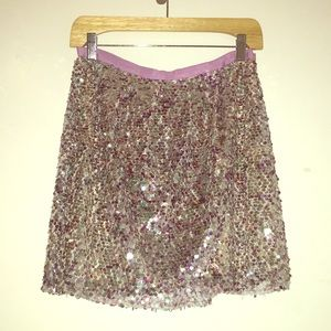 ✨J. CREW COLLECTION sparkly sequined mini skirt